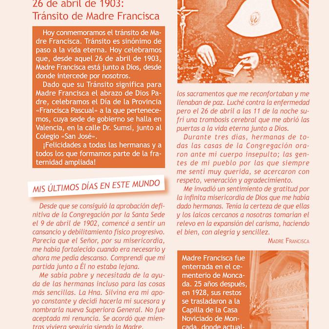 transito madre francisca