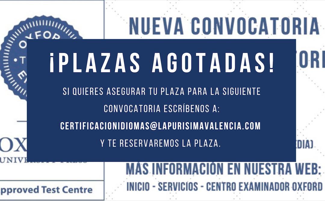 Convocatoria Examen Oficial Oxford – Plazas limitadas – 16:00 horas