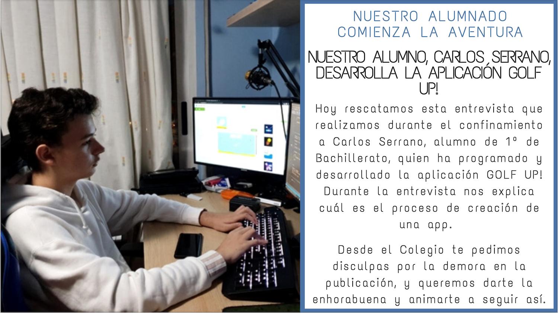 Nuestro alumno, Carlos Serrano, desarrolla la aplicación Golf Up!