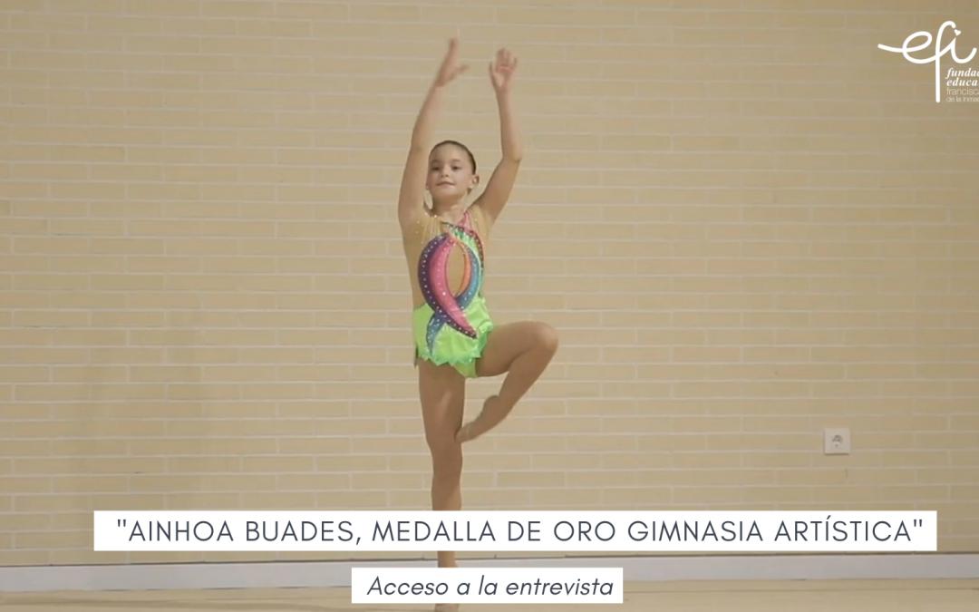 Entrevista a Ainhoa Buades, alumna de 2º Primaria, medalla de oro en gimnasia artística